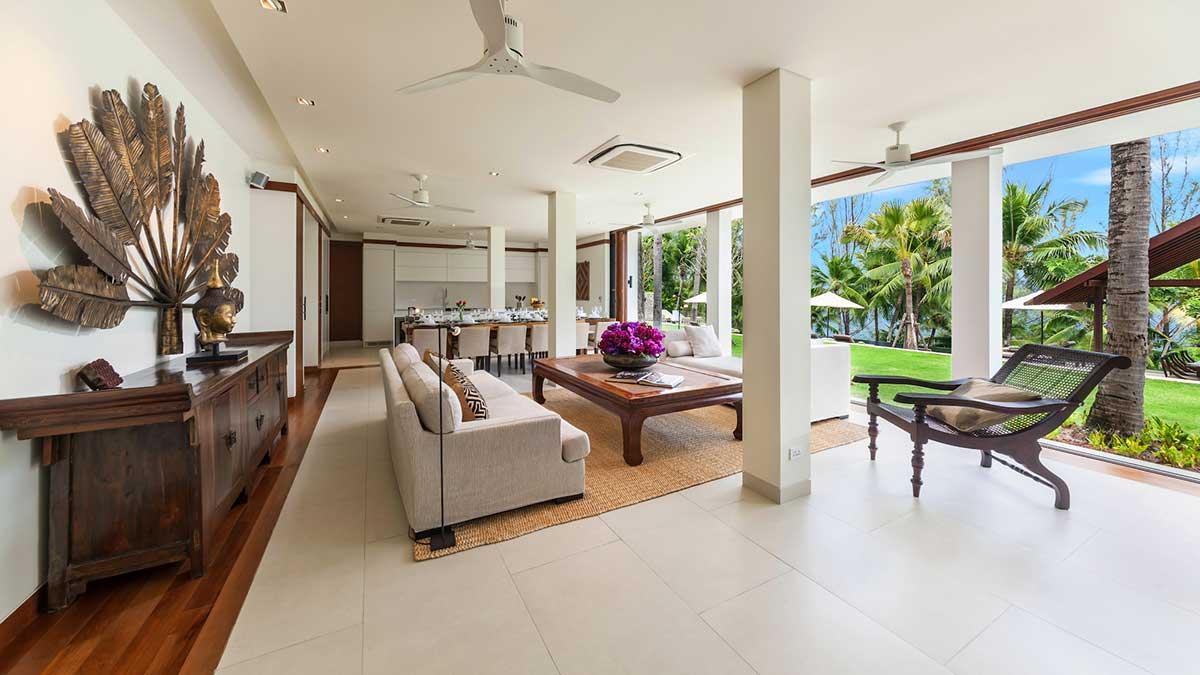 Living dining kitchen area villa analaya phuket